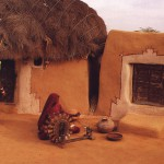 Cow Dung Village House in Thar
