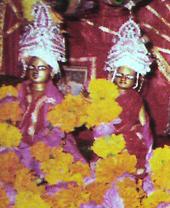 Gaura-Gadadhara Deities of Haridas Sastri Maharaja