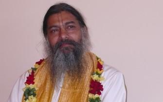 Babaji with garland
