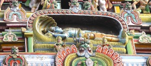 Lying Vishnu_Entrance Sri Rangam