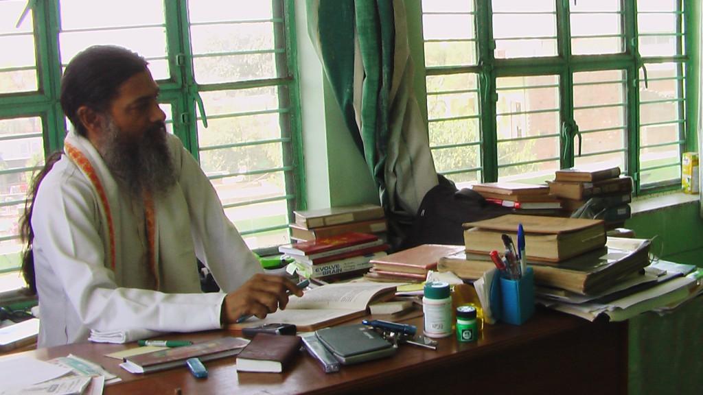 Babaji at his desk
