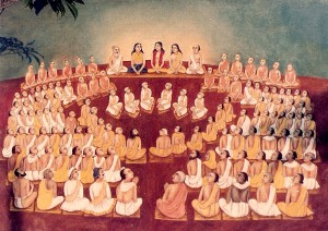 Pancha-Tattva in assembly of sages