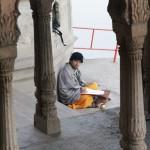 devotee studying