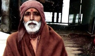 sadhu in Vrindavan 1992_pan