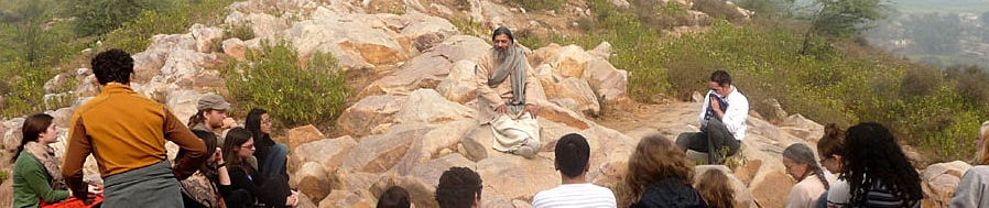 Babaji in mountains_pan