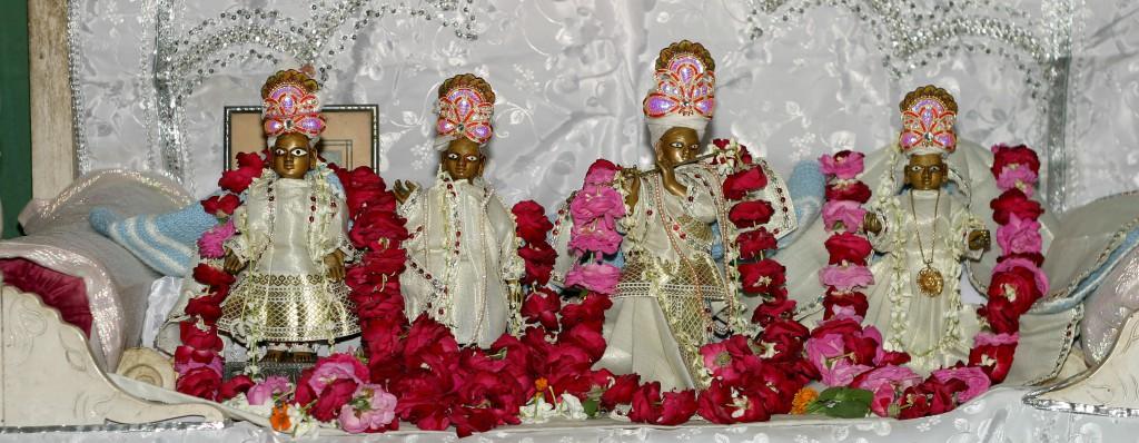Gadadhara-Gaura and Radha Govinda at Kalidaha