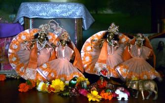 Radha Shyamasundara and Radha Govinda at Jiva Institute
