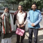 Satyanarayana Dasa, Rishi Pal Chauhan, Dr. Partap Chauhan (from l.to r.)
