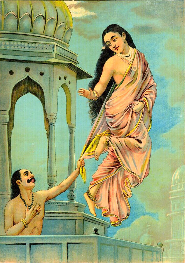 Urvashi-Pururavas_by_Raja_Ravi_Varma