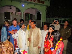 Dr. Mahesh Sharma, the minister of Tourism an Culture, visits JIVA