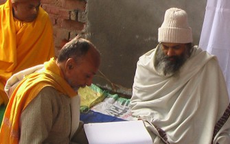 Satyanarayana Dasa and Jiva teacher studying