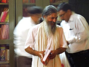 Babaji with book