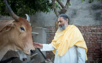 Babaji with cow_small