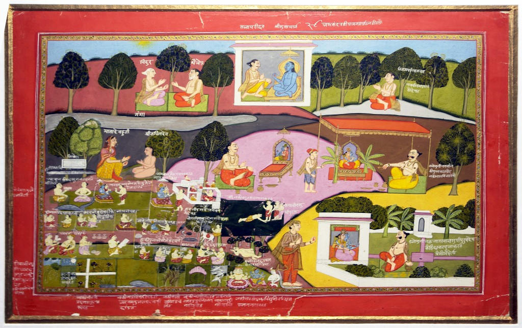 Sage_Sukadeva_narrating_the_story_of_Krishna_to_Raja_Pariksit,_National_Museum,_New_Delh