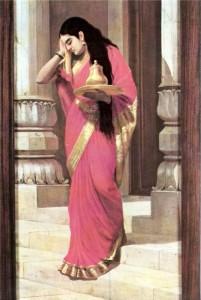 Kunti Devi / painting by Raja Ravi Varma
