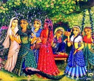 Gopis - Vrindavan Art