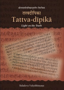 New Publication: Tattva-dīpikā by Baladeva Vidyābhūṣaṇa