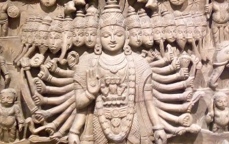 Vishnu carving (Vrindavan Research Institute)