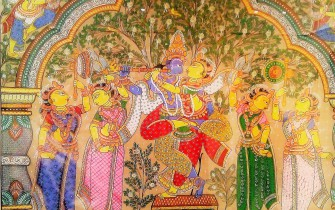 Krishna and Gopis - Vrindavan Research Institute
