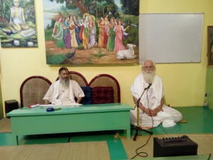Babaji and Jagat commencing the course