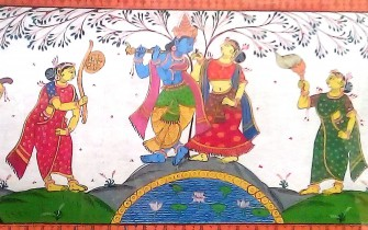 Krsna and Gopis / Vrindavan Research Institute