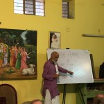 Purushottama prabhu teaching Sanskrit