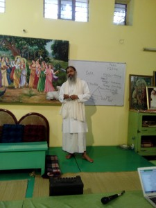 Babaji teaching Bhakti-tirtha
