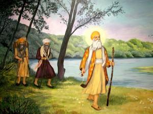 Guru Nanak with disciples (Harisingh.com)