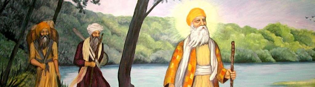 Guru Nanak with disciples_pan