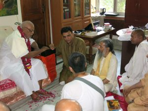 Ananta das Babaji with Dr. Partap Chauhan and Satyanaryana Dasa Babaji at Jiva Institute