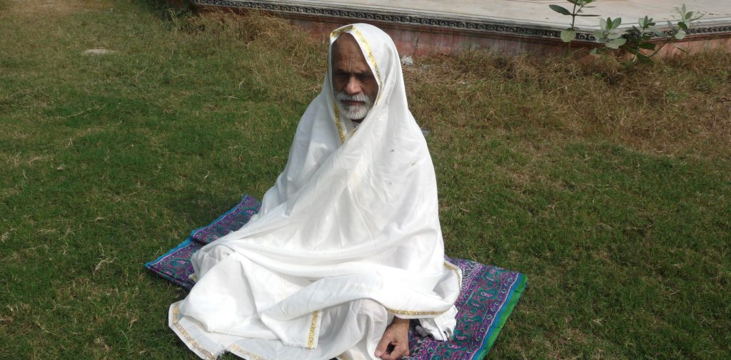 Devotee in meditation