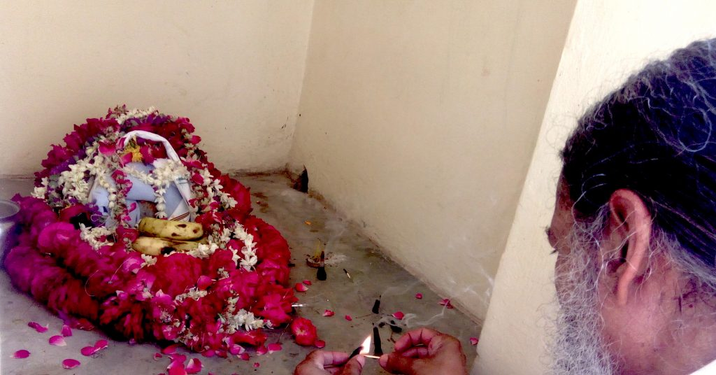 Babaji at Maharajji's samadhi mandir